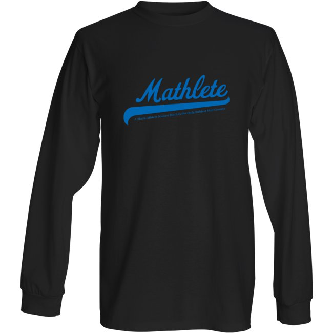Mathlete Mens- T Shirt – Long Sleeve – Small